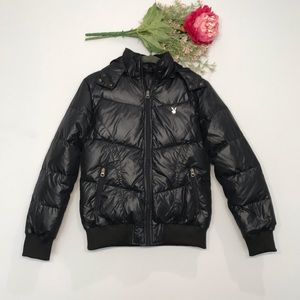 Playboy | Physical Puffer Jacket w/ Zip Off Hood L
